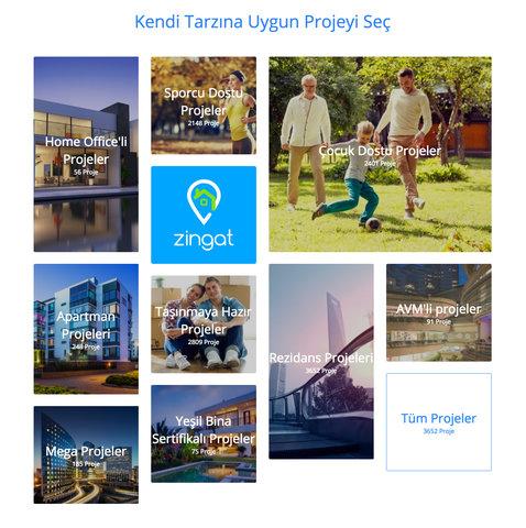 Zingat.com ile tarzına uygun projeyi seç!
